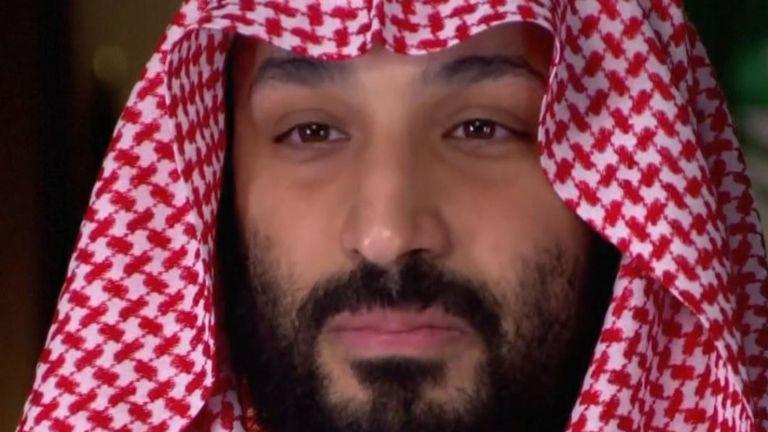 Mohammed bin Salman nie avoir affirmé avoir ordonné le meurtre de Jamal Khashoggi. Pic: CBS
