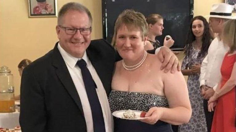 Gavin et Lisa Dallow le jour de leur mariage il y a deux ans. Photo: Facebook / Rotary Adelaide