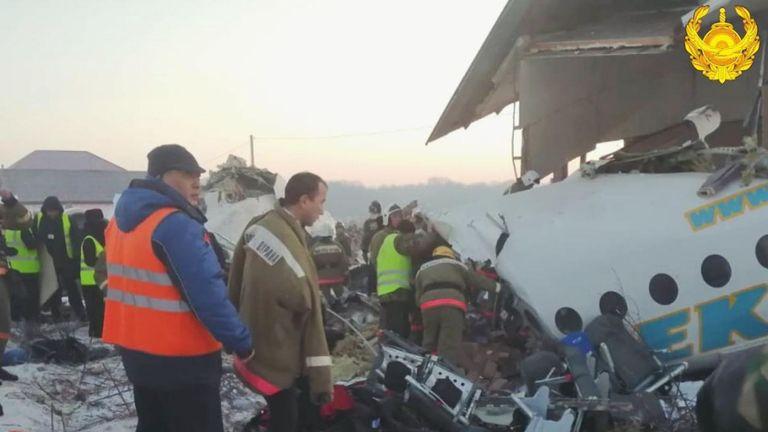 Un avion s'est écrasé au Kazakhstan. Pic: Ministère de l'intérieur