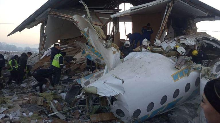 L'avion avait perdu de la hauteur lors du décollage. Photo: Comité d'urgence du Kazakhstan