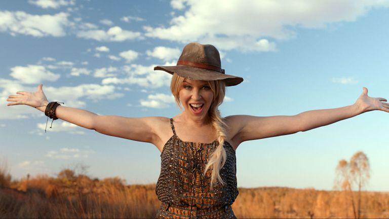 Kylie Minogue dans une publicité pour Tourism Australia