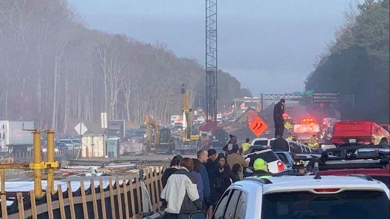 Soixante-neuf voitures ont été impliquées dans l'accident