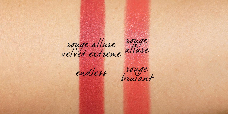 Chanel Printemps 2020 Rouge Allure Velvet Extreme Endless et Rouge Allure Rouge Brulant