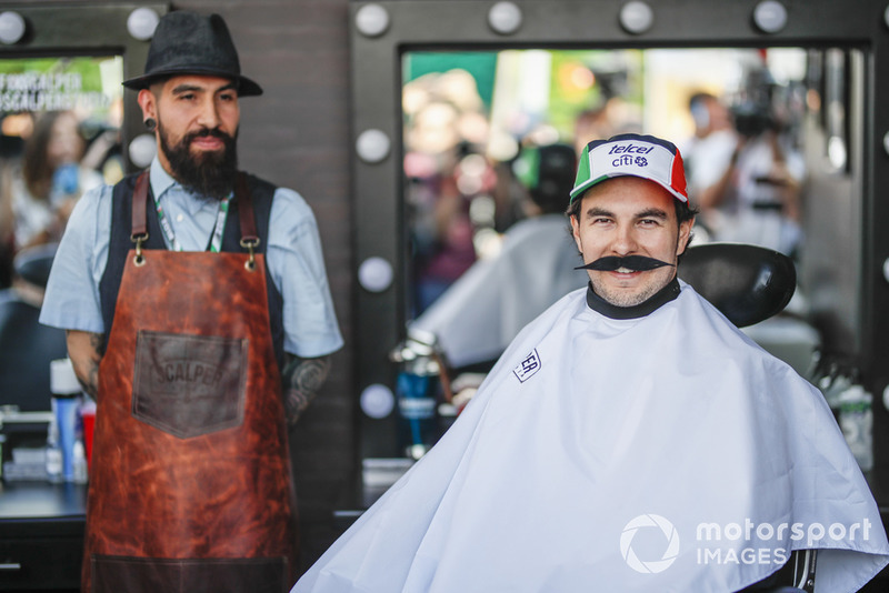 Sergio Perez, Racing Point Force India F1 Team à la Movember Foundation