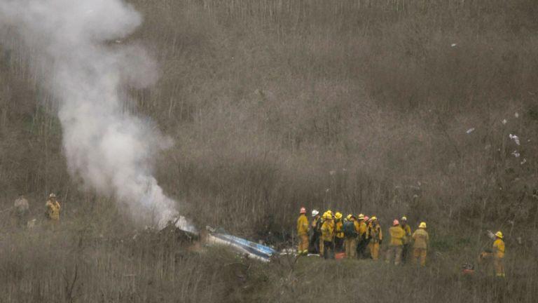 Les autorités disent que l'hélicoptère est tombé dans un champ éloigné au large de Las Virgenes vers 10h (heure locale) dimanche