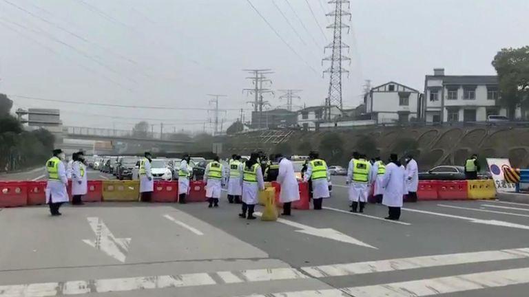 Wuhan en Chine est en lock-out efficace