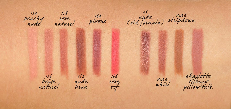 Chanel Le Crayon Levres nouvelle formule et couleurs swatches neutres