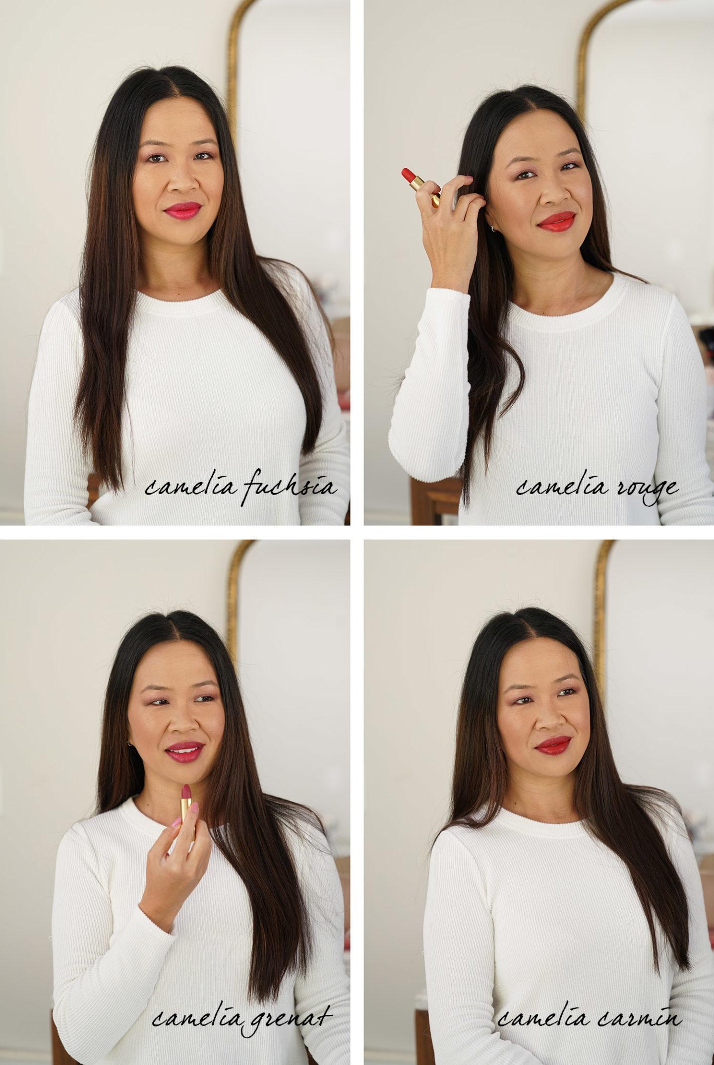 Échantillons de lèvres Chanel Rouge Allure Camelia Velvet