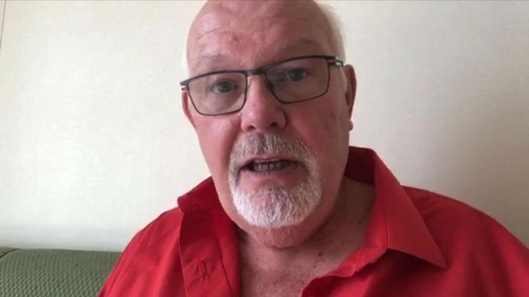 Le citoyen britannique David Abel est actuellement mis en quarantaine à bord d'un bateau de croisière au large des côtes du Japon