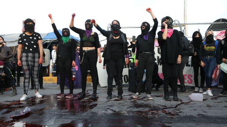 Manifestants à Ciudad Juarez, dans l'État de Chihuahua