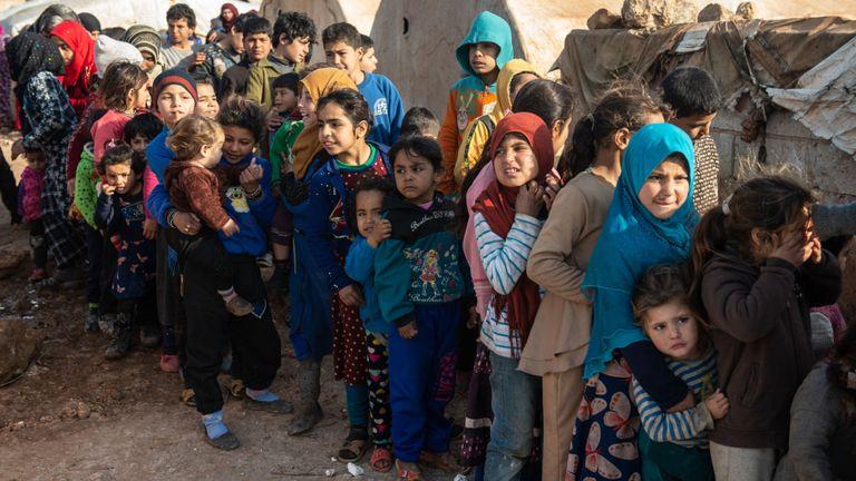 Environ 60% des 900 000 personnes qui ont fui la province d'Idlib sont des enfants, selon l'ONU