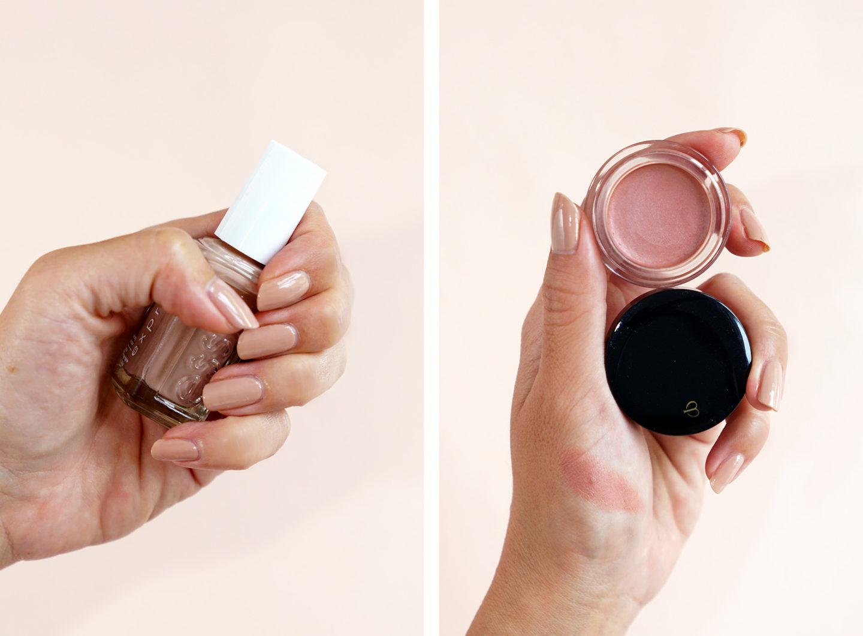 Essie Speeders Buns Up et Cle de Peau Cream Blush 4