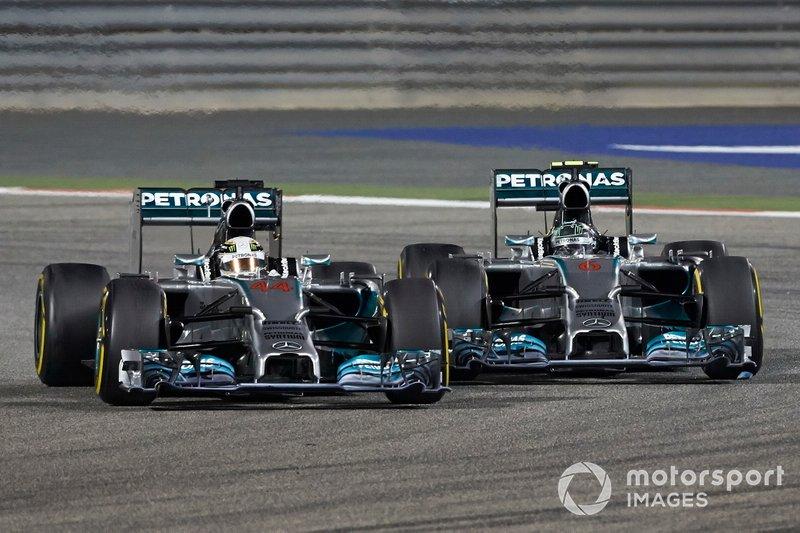 Lewis Hamilton, Mercedes W05, batailles avec Nico Rosberg, Mercedes W05