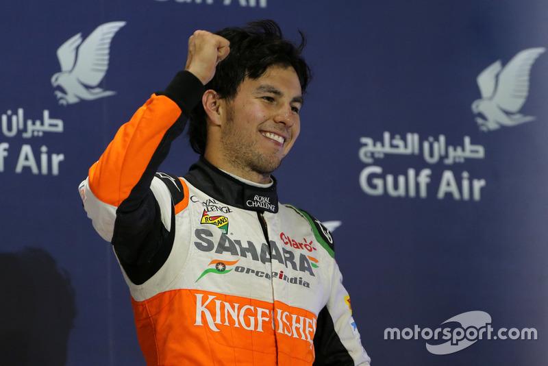 Podium: troisième place Sergio Perez, Force India