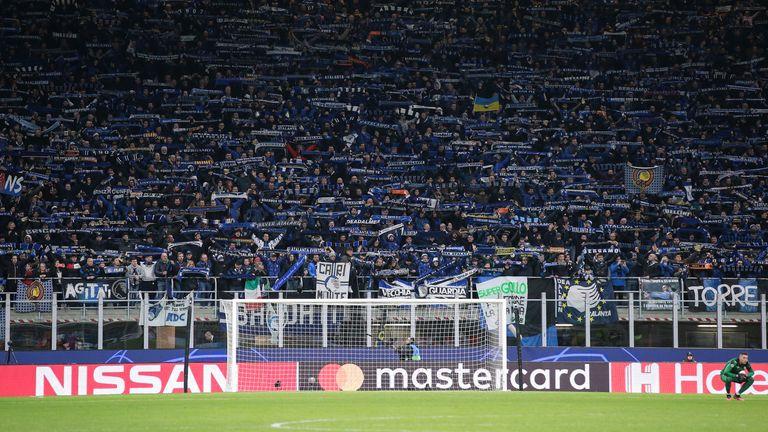 au cours de l'UEFA Champions League match à Giuseppe Meazza, Milan. Date de la photo: 19 février 2020. Crédit photo à lire: Jonathan Moscrop / Sportimage