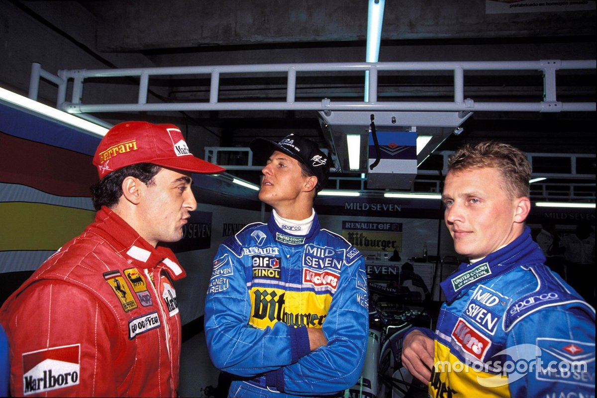 Jean Alesi, Michael Schumacher et Johnny Herbert