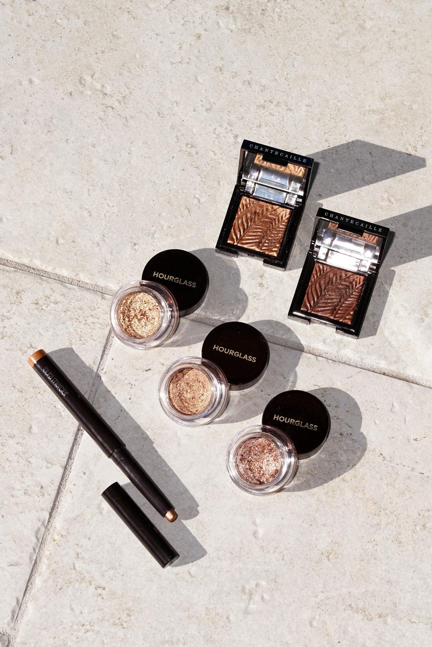 Meilleurs fards à paupières bronze et cuivre Laura Mercier, Hourglass et Chantecaille
