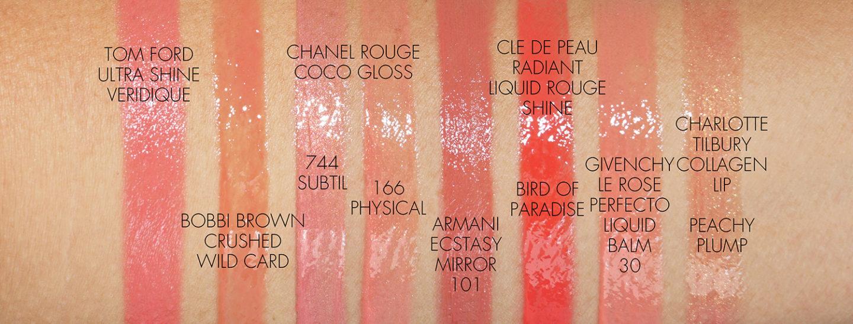 Les meilleurs échantillons de couleurs de lèvres de pêche Tom Ford, Bobbi Brown, Chanel