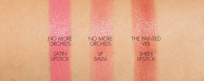 Échantillons de rouge à lèvres et baume Gucci No More Orchids