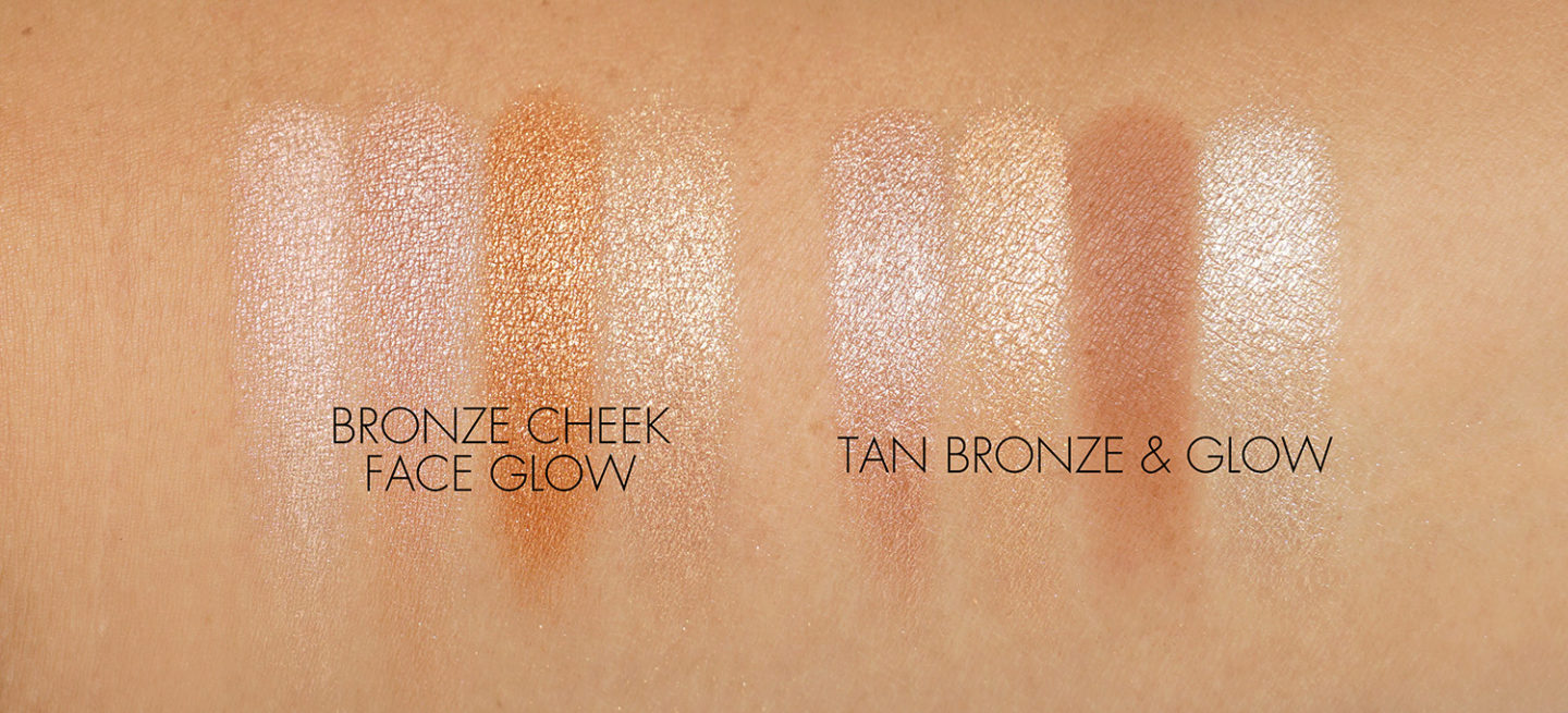 Natasha Denona Bronze Cheek Face Glow Palette vs Tan Bronze Glow