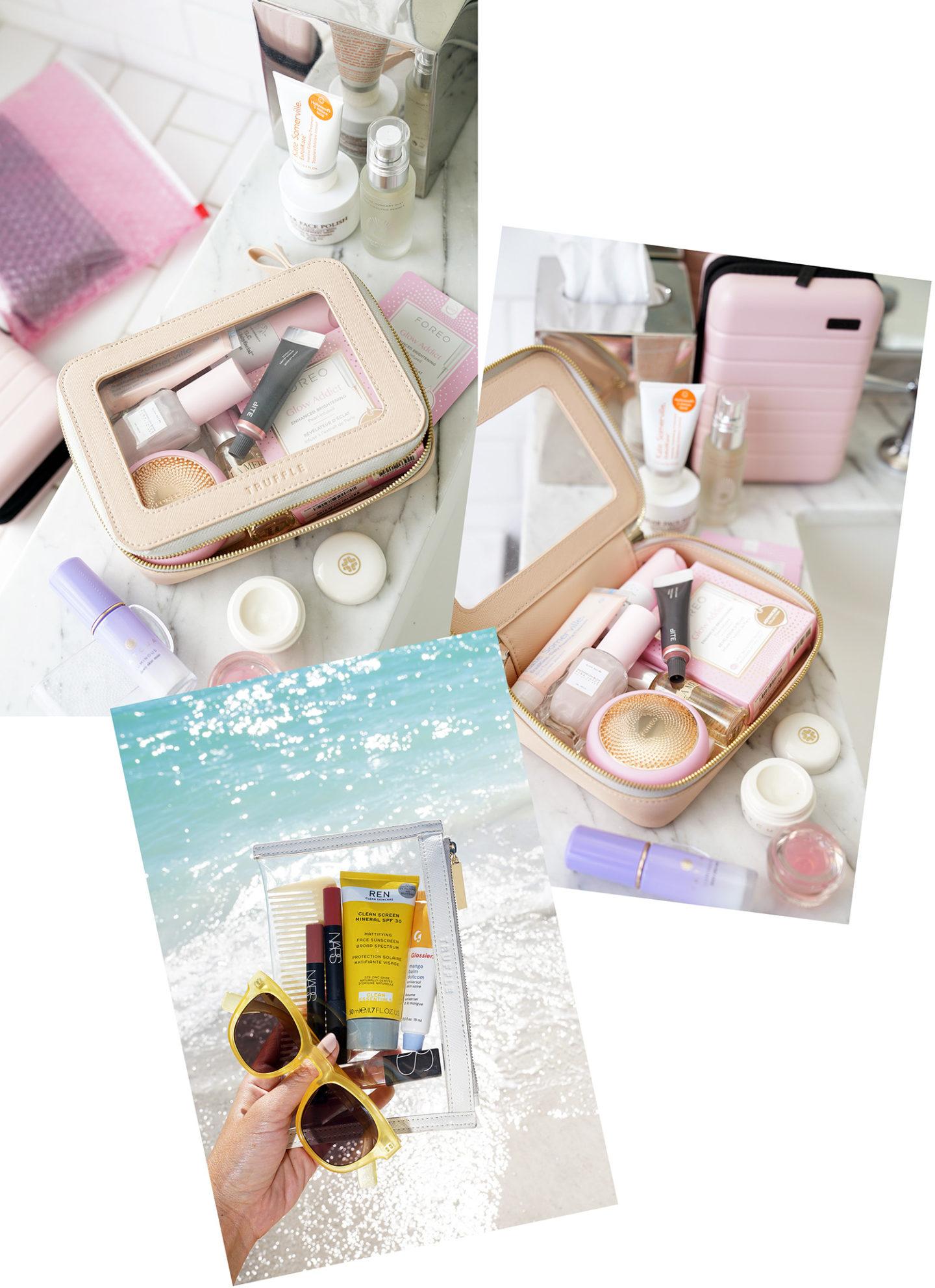 Trousses de maquillage transparentes à la truffe