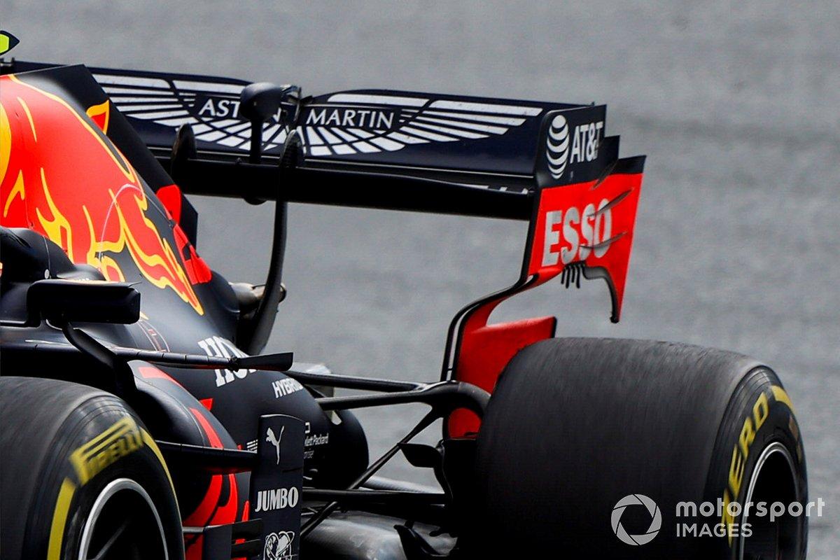 Détail de l'aileron arrière du Red Bull RB16