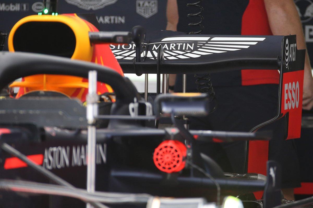 Détail de l'aileron arrière de la Red Bull Racing RB16