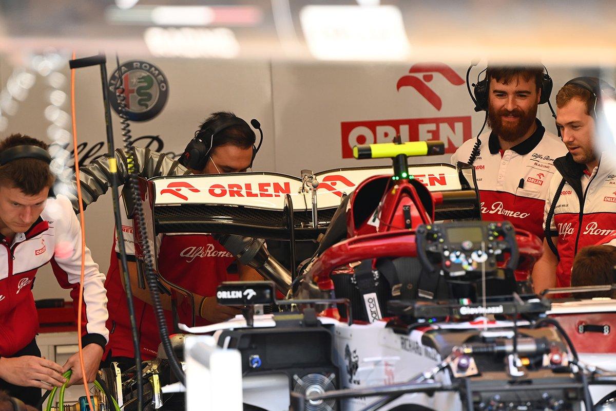 Détail de l'arrière de l'Alfa Romeo Racing C39