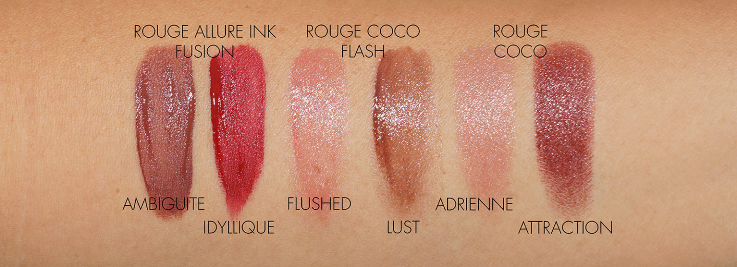 Swatches Lips Chanel Automne-Hiver 2020