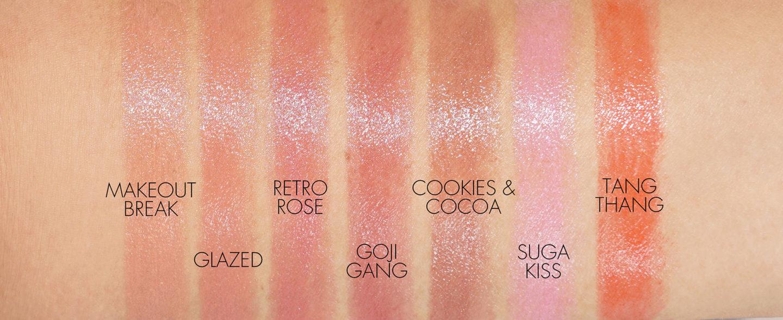 Nuancier de rouge à lèvres Fenty Slip Shine Sheer Shiny