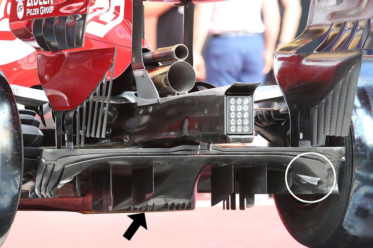 Détail de l'arrière de l'Alfa Romeo C39
