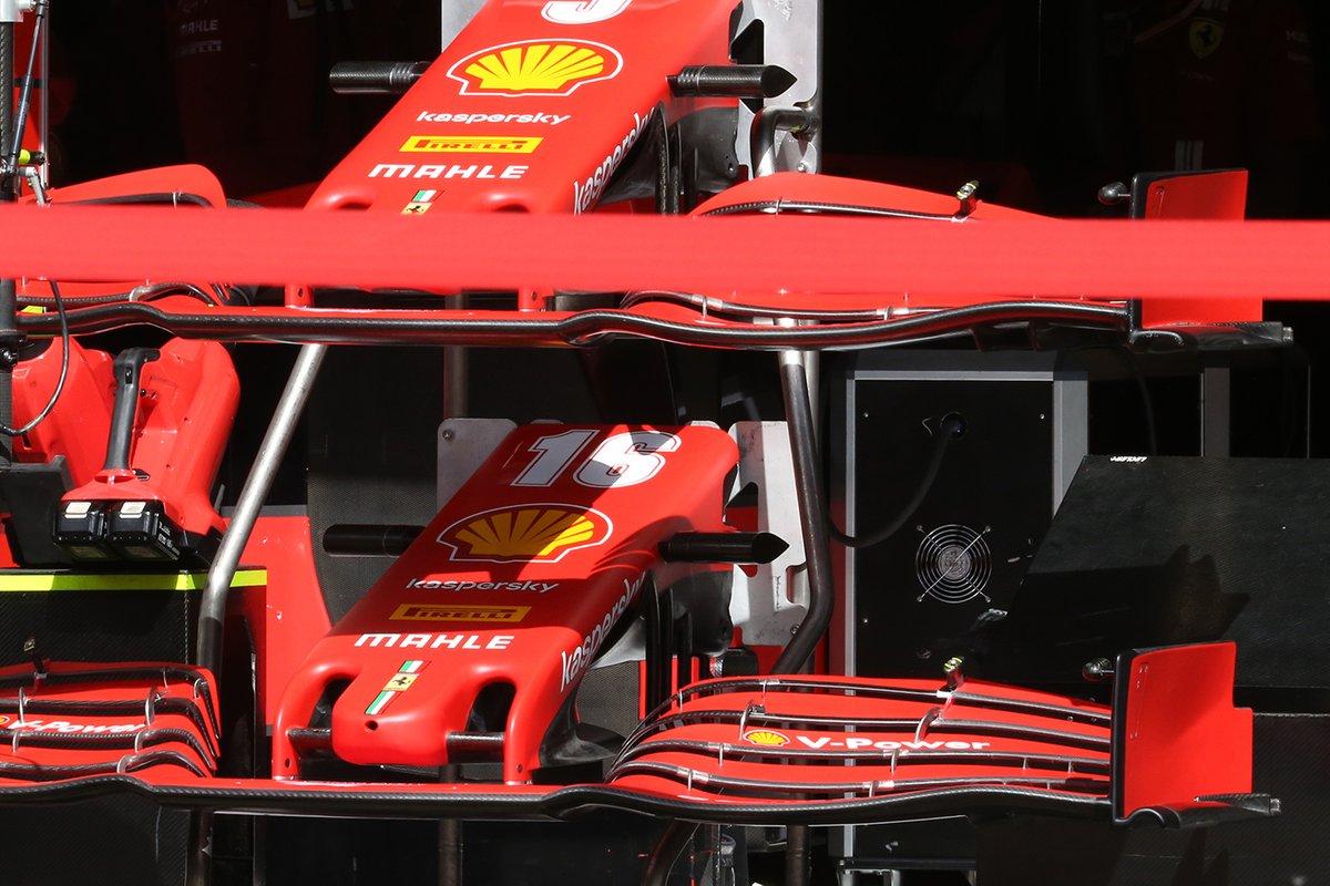 Détail des ailes avant de la Ferrari SF1000
