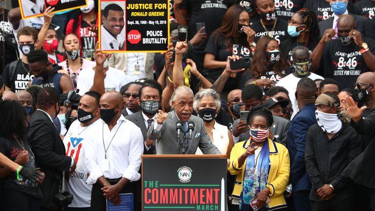 Le révérend Al Sharpton s'est exprimé avec passion lors de la marche et a appelé au changement