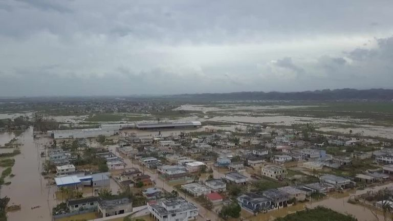 Toa Baha à Porto Rico a été inondé après l'ouragan Maria