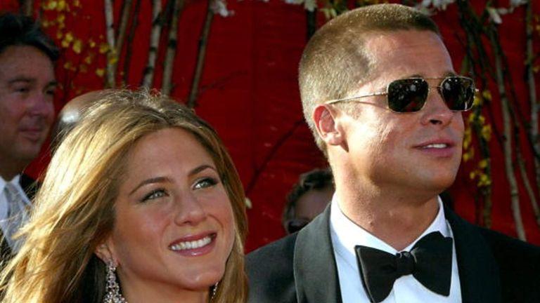 Jennifer Aniston et Brad Pitt aux Emmy Awards à Los Angeles en 2004