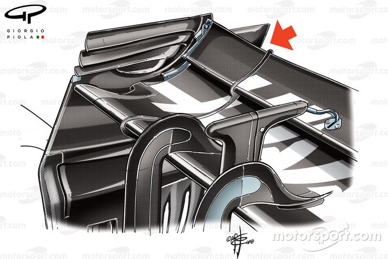 Aileron arrière Haas VF-18, GP de Belgique
