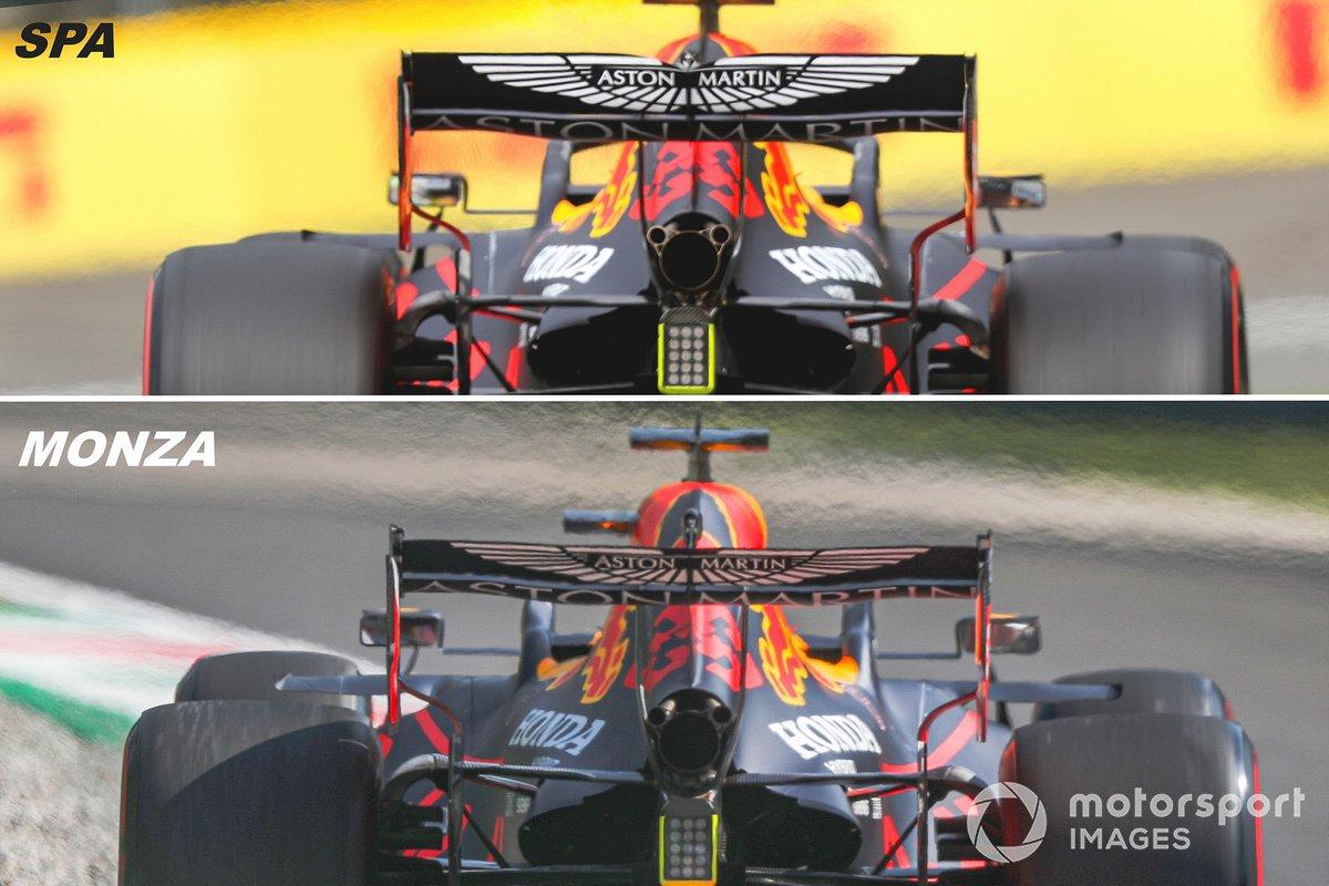 Vue arrière de la Red Bull Racing RB16