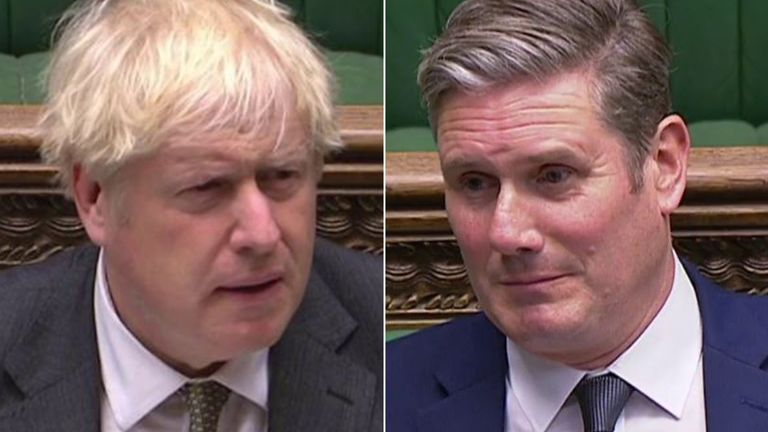 Boris Johnson et Keir Starmer