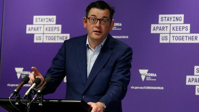 Le premier ministre de l'État de Victoria, Daniel Andrews, déclare que les chiffres sont une `` cause d'un grand optimisme ''