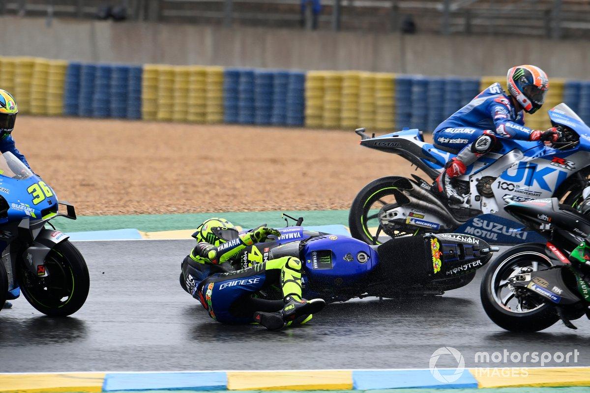 Valentino Rossi, accident de Yamaha Factory Racing