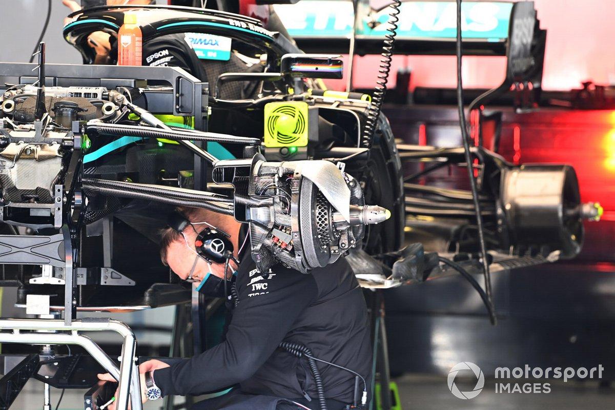 Détail technique de la Mercedes F1 W11
