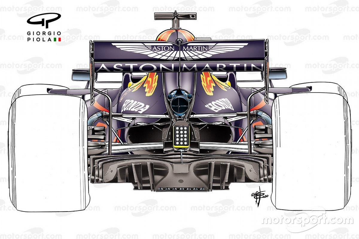 Red Bull Racing RB16 ancien détail de la suspension arrière