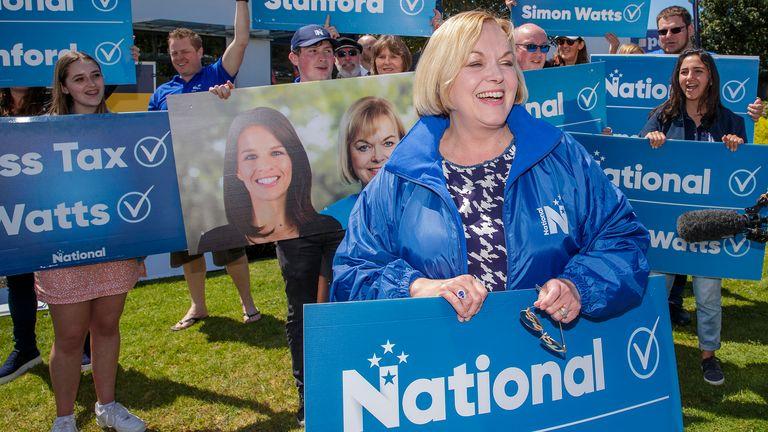 Judith Collins est le chef du Parti national