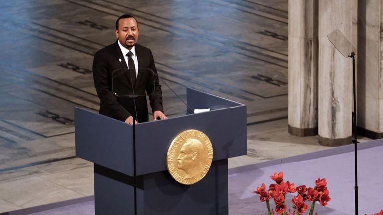 Le Premier ministre éthiopien Abiy Ahmed Ali a reçu un prix Nobel de la paix l'année dernière pour ses efforts en faveur de la paix et de la coopération internationale