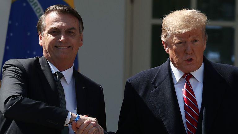 Le président brésilien Jair Bolsonaro a été un proche allié de M. Trump