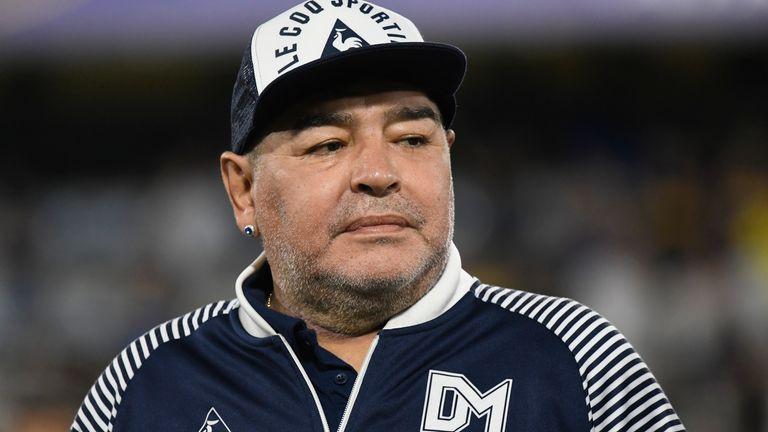 Maradona lors d'un match en mars