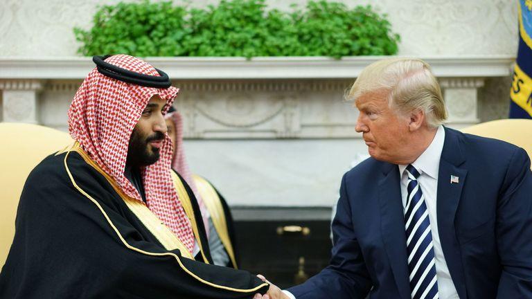 Donald Trump et le prince héritier d'Arabie saoudite Mohammed ben Salmane