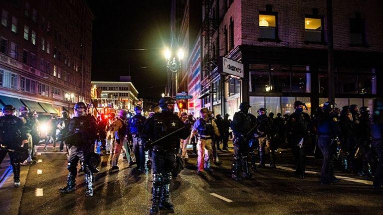 Onze ont été arrêtés lors de manifestations à Portland, Oregon