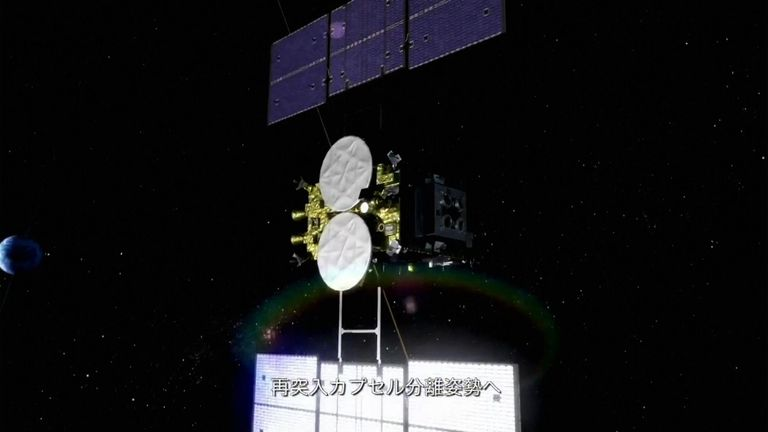 Le vaisseau spatial Hayabusa2.  Pic: JAXA