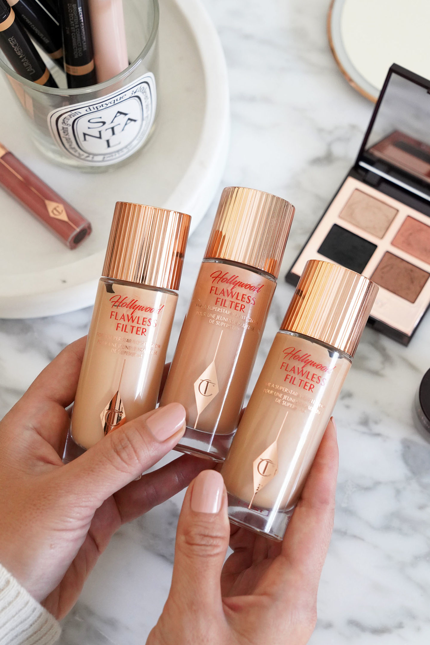 Charlotte Tilbury Hollywood Flawless Filter Primer and Highlighter